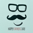 man face and text happy fathers day