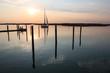 laguna di Bibione al tramonto