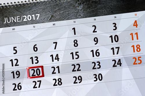 Poster Calendar for June 2017