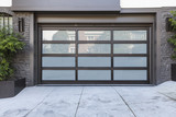 Frosted glass black garage - 159001641