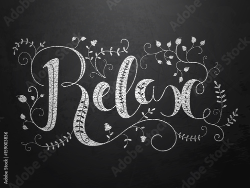 Wall mural RELAX ornate hand lettering
