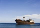 Shipwreck near Arrecife harbor, Lanzarote, Spain, Europe