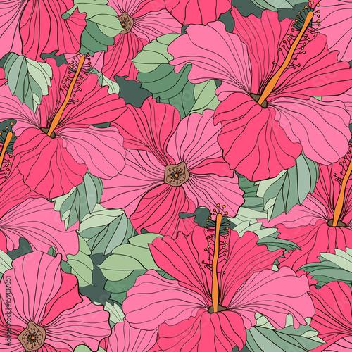 Fototapeta Seamless vector floral patterns