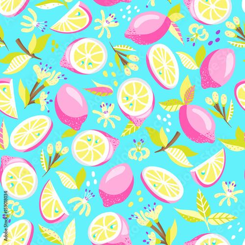 seamless pattern with lemon - 159018034
