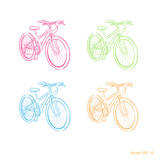 Multicolored bicycle