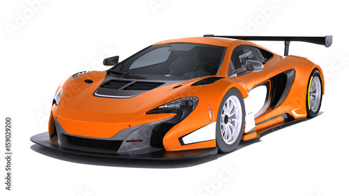 Modern Sport Car isolated