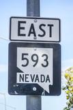 Street sign East 593 Nevada - LAS VEGAS - NEVADA - APRIL 23, 2017