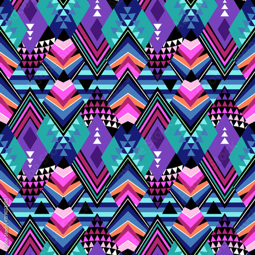 dark geometric tribal print - seamless background