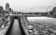 The Lock at St. Anthony Falls, Minneapolis, Minnesota