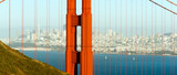 Fototapeta Panoramic Golden Gate Bridge San Francisco Marin County Headlands
