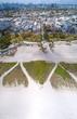 Miami Beach Ocean Drive Vertical Panoramic Aerial View