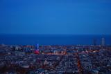 Barcelona sky line view at night from Bunker del carmen