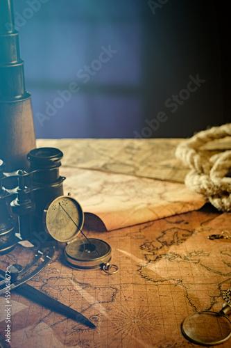 Plagát Travel geography navigation concept background.