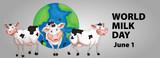 Poster design for world milk day