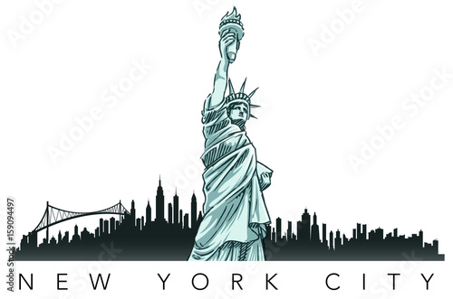 Fototapeta statue of liberty
