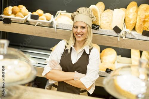 Woman in bakery