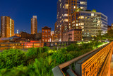 The High Line on a summer evening in the heart of Chelsea (here at the intersection of 10th Avenue and 17th Street). Manhattan, New York City - 159101865