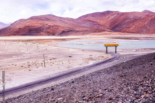 Deurstickers Lichtroze Landscape of Leh, Ladakh, North of India