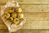 Roasted potatoes with dill - 159123627