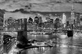 Brooklyn Bridge and Manhattan at night, New York City, USA. © MaciejBledowski