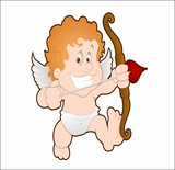 Cartoon angel with an onion