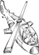 Doodle Helicopter Vector Illustration Art - 159127883