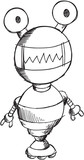 Doodle Robot Vector Illustration Art