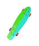 Two-color skateboard isolated on white background