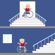 Concept of problem of access for physically challenged people