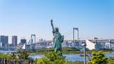 東京・お台場の風景と自由の女神