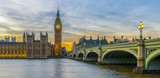 Fototapeta Big Ben - Big Ben and Houses of Parliament at sunset, London © FadiBarghouthy