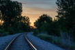 Railroad Tracks Sunrise