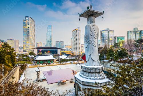 Seoul, South Korea Temple Poster