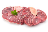 Veal steak isolated on the white background.