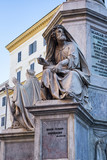 Biblical Statues at the base of the Colonna della Immacolata in Rome, Italy