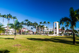 CAYENNE, FRENCH GUIANA - AUGUST 3, 2015: Place des Palmistes square in Cayenne, capital of French Guiana. - 159165074