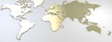 Mappa del mondo, mappa placcata d'oro