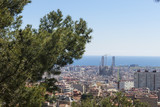 Barcelona skyline panorama, Catalonia, Spain