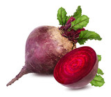 Beetroot with leaves isolated - 159180610