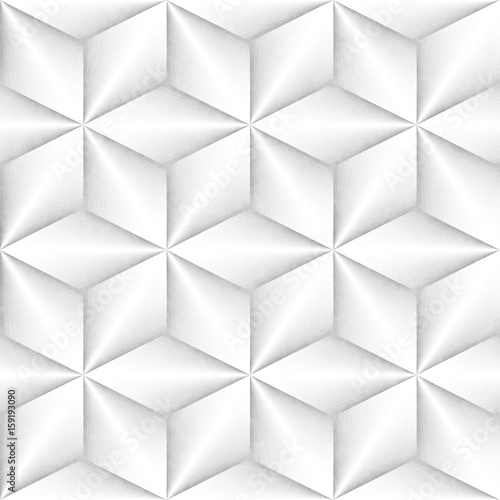 Seamless Monochrome Pattern. Grungy Geometric Shapes Tiling.