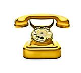 Goldenes Telefon