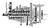 Word Goodbye in different languages - 159198012