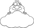 Cartoon God Cloud