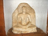 Ancient Buddha sculpture in the museum in Sri Lanka