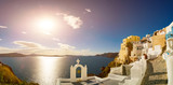 Panorama if Oia. Santorini island. Oia ( Ia ) is a small town  in the Aegean  islands of Thira ( Santorini ) and Therasia, in the Cyclades, Greece.