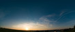 Sunset, sunrise sky panorame