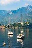 Sailboats anchoring in Como, Lago di Como, Italy - 159210678