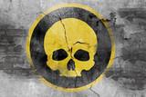 skull symbol on wall - 159211403