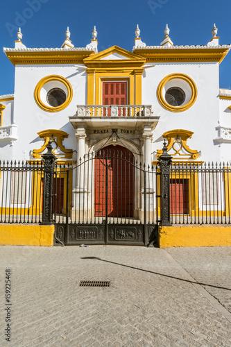 Entrance at the Bullfight arena, plaza de toros in Seville,La Maestranza
