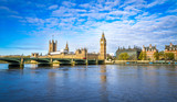Big Ben and Westminster parliament in London, United Kingdom at sunny day